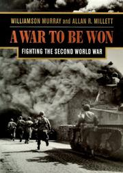 Cover of: A war to be won