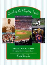 Cover of: Leveling the playing field