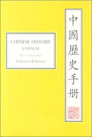 Cover of: Chinese History | Endymion Wilkinson