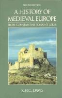 Cover of: A history of medieval Europe