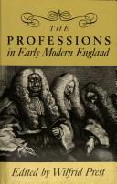 Cover of: The Professions in early modern England |