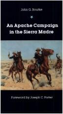 Cover of: An Apache campaign in the Sierra Madre