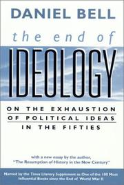 Cover of: The End of Ideology