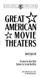 Cover of: Great American movie theaters