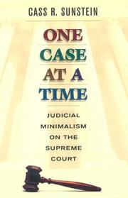 Cover of: One Case at a Time | Cass R. Sunstein