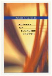 Cover of: Lectures on Economic Growth | Robert E., Jr. Lucas