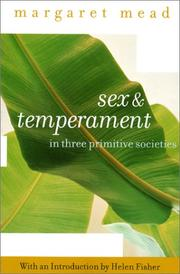 Cover of: Sex and Temperament
