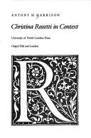 Cover of: Christina Rossetti in context