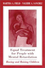 Cover of: Equal treatment for people with mental retardation |