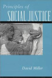 Cover of: Principles of Social Justice
