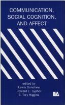 Cover of: Communication, social cognition, and affect