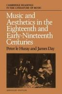 Cover of: Music and aesthetics inthe eighteenth and early-nineteenth centuries |