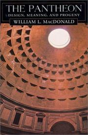 Cover of: The Pantheon | William Lloyd MacDonald