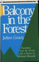 Cover of: Balcon en forêt