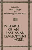 Cover of: In search of an East Asian development model