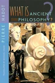 Cover of: What Is Ancient Philosophy?