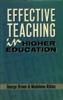Cover of: Effective teaching in higher education