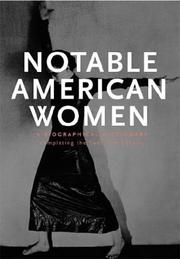 Cover of: Notable American Women: A Biographical Dictionary |