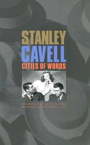Cover of: Cities of Words | Stanley Cavell