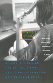 Cover of: Making Good | Wendy Fischman