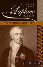 Cover of: Pierre Simon Laplace, 1749-1827 | Roger Hahn