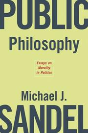 Cover of: Public Philosophy
