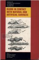 Cover of: Blood in contact with natural and artificial surfaces |