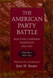 Cover of: The American Party Battle | Joel H. Silbey