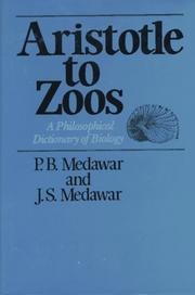Cover of: Aristotle to zoos