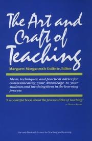 Cover of: The Art and Craft of Teaching
