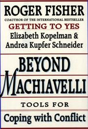 Cover of: Beyond Machiavelli: Tools for Coping With Conflict