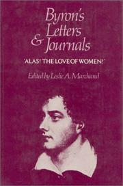 "Cover of: ""Alas! the love of women"": 1813-1814"