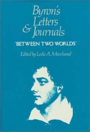 Cover of: Byron's Letters and Journals