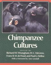Cover of: Chimpanzee Cultures |