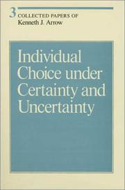 Cover of: Individual choice under certainty and uncertainty