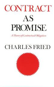 Cover of: Contract as Promise