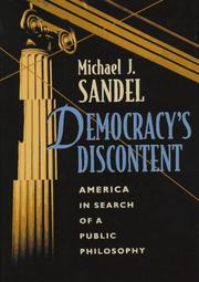 Cover of: Democracy's discontent