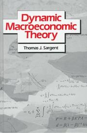 Cover of: Dynamic macroeconomic theory