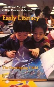 Cover of: Early literacy by Joan Brooks McLane