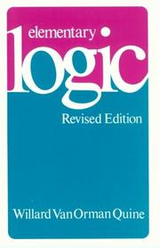 Cover of: Elementary Logic | Willard Van Orman Quine