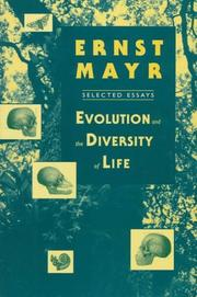 Cover of: Evolution and the diversity of life