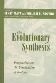 Cover of: The Evolutionary Synthesis