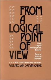 Cover of: From a Logical Point of View