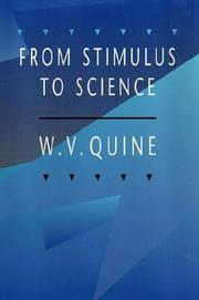 Cover of: From stimulus to science