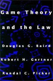 Cover of: Game Theory and the Law | Douglas Baird