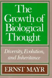 Cover of: The growth of biological thought