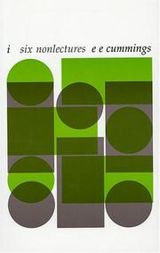 Cover of: i--six nonlectures (The Charles Eliot Norton Lectures)