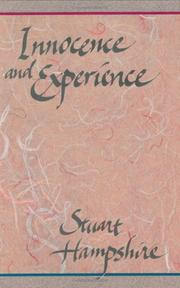 Cover of: Innocence and experience