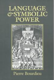 Cover of: Language and Symbolic Power | Pierre Bourdieu
