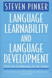 Cover of: Language learnability and language development